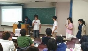 学生による発表の様子