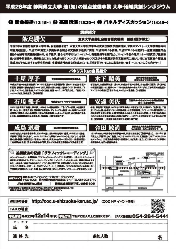 H28大学・地域共創シンポジウム(裏)